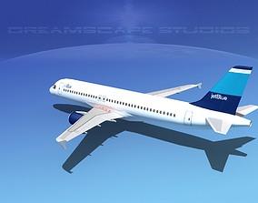 3D model Airbus A320 LP Jet Blue