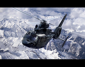 3D Eurocopter AS-365 Black