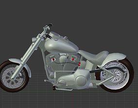 3D model Harley Davidson Custom bike