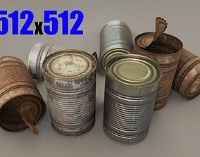 Tin Can - Game Ready - VR AR 3D model
