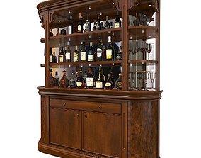3D Liquor Cabinet Classic Style