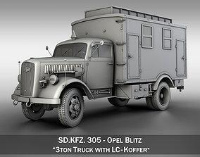 3D Opel Blitz - 3t Ambulance Truck with EC Koffer