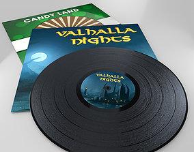 Vinyl Record 3D asset