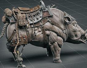 Cybernetic boar 3D model