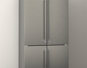 smeg fq60xp1 refrigerator 3d model low-poly