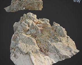 3d scanned rock cliff W