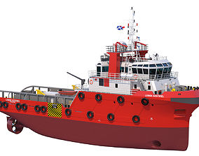 3D model 48m AHTS Anchor Handling Tug