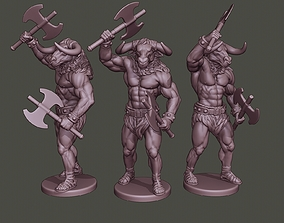 3D print model Minotaur Warrior Stand2 two Axes