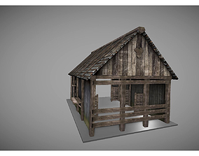 gothic 3D asset VR / AR ready low poly medieval house