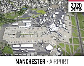 3D asset Manchester Airport - MAN