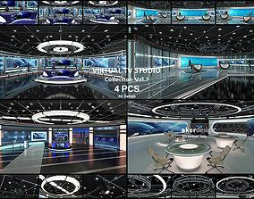 3D model Virtual TV Studio Collection Vol 7 - 4 PCS