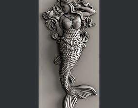 3d STL models for CNC mermaid cnc