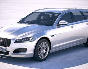 3D model Jaguar XF Sportbrake Pure 2018