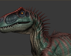 3D asset animated Allosaurus Dinosaur Rig and Animations