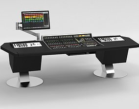 Solid State Logic Matrix console studio 3D model 1