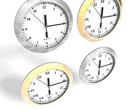 Wall Mounted Clocks 3D