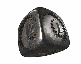 Dice with numbers 3D model