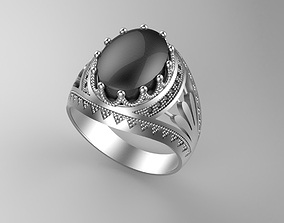 3D printable model Gentleman Ring with oval shape St