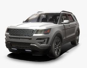 Suv Modern Car Low poly 3D asset