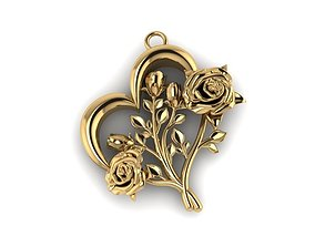 Rose pendant rose 3D printable model