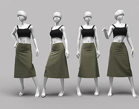 3D model Woman Mannequin 12
