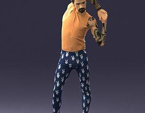 cjp Tattooed male gymnast 0347 3D Print Ready
