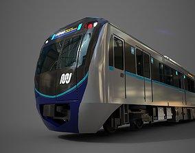 MRT Jakarta Train 3D Model AR VR Games Ready VR / AR ready