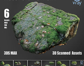 3D model Mossy stones bundle B
