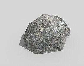 low poly rock 3D model