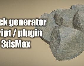 Rock Generator Max Script for 3dsMax detail