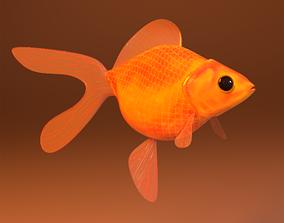 3D asset fish in pot