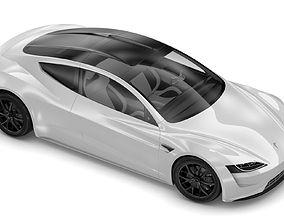3D model 2020 Tesla Roadster Pearl White