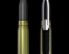 3D model German 20mm MG151-20 cartridge with cutaway