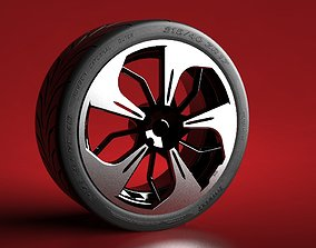 3D inspired VW golf GTI wheel