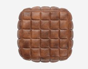 Casa Padrino Genuine Leather Stool Brown 3D model