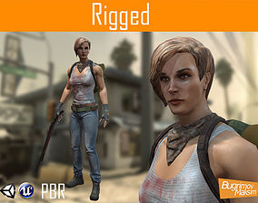 3D model Post Apocalypse Girl