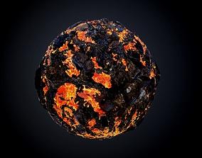 Lava Ground Seamless PBR Texture 01 3D model