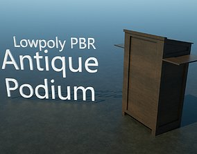 Antique Podium - PBR 3D asset VR / AR ready