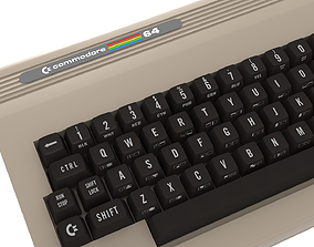 Commodore 64 with 1702 Monitor 3D
