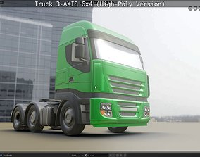 3D model Truck 3-AXIS 6x4 High-Poly Version