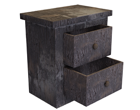 3D model Worn Drawers