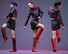 Black Crock Asian Model low-poly