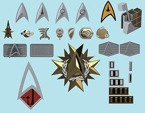 Star Trek Online pip badge buckle 3D printable model 2