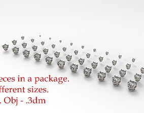 3D print model Jewelry Prong Head Set Package 006