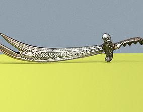 3D model Low Poly Arabic Islamic Religious Shia Sword