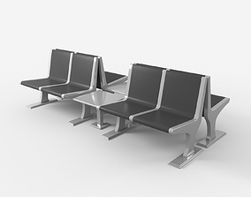 Airport Seat Group 3D model