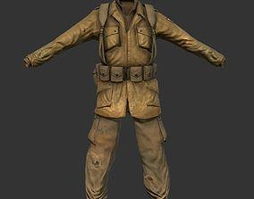 3D asset World War 2 American Soldier Uniform