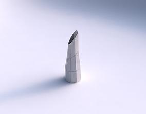Vase top bent hexagon with huge plates 3D printable model