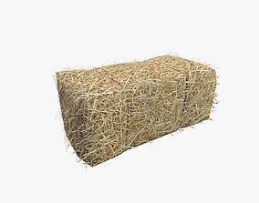 Low Poly Hay bale with LOD 3D model VR / AR ready