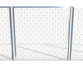 3D asset Low Poly Modular Fence 13